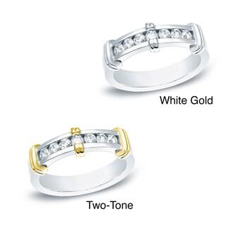 Auriya 14k White or Two-tone Gold Men's 1/2ct TDW Diamond Ring (H-I, SI1-SI2)