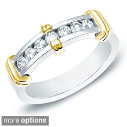 Auriya 14k White or Two-tone Gold Men's 1/2ct TDW Diamond Ring (H-I, SI1-SI2)