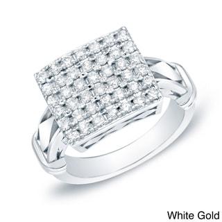 Auriya 14k Gold 1ct TDW Pave Diamond Ring (H-I, I1-I2)