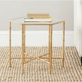 Safavieh Treasures Kerri Gold/ Glass Top Accent Table