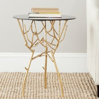 Safavieh Treasures Tara Gold/ Black Top Accent Table