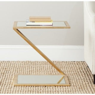 Safavieh Treasures Andrea Gold/ Mirror Top Accent Table