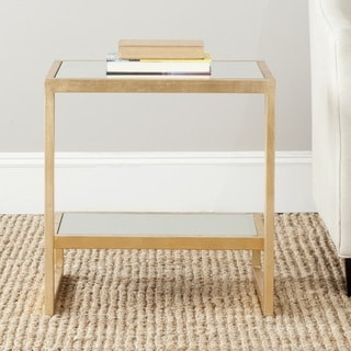Safavieh Treasures Kennedy Gold/ Mirror Top Accent Table