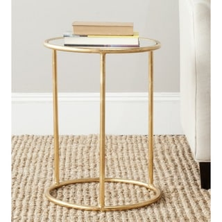 Safavieh Treasures Shay Gold/ Mirror Top Accent Table
