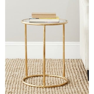 Safavieh Treasures Shay Gold/ Glass Top Accent Table