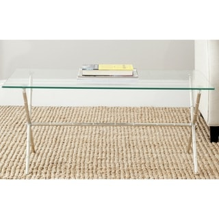 Safavieh Treasures Brogen Silver/ Glass Top Accent Table