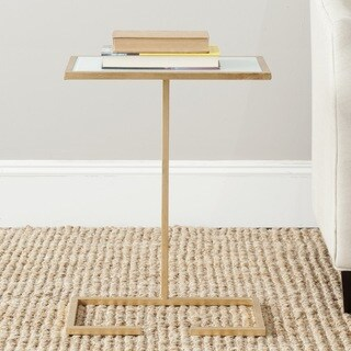 Safavieh Treasures Neil Gold/ White Top Accent Table