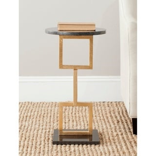 Safavieh Treasures Cassidy Gold/ Black Top Accent Table