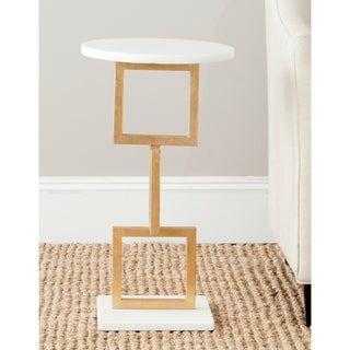Safavieh Treasures Cassidy Gold/ White Top Accent Table