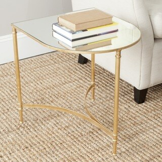 Safavieh Treasures Nevin Gold/ Mirror Top Accent Table