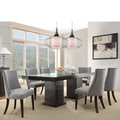 Dominic Espresso Mid-century Modern 7-piece Upholstered Dining Set