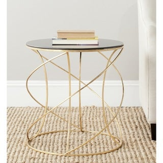 Safavieh Treasures Cagney Gold/ Black Top Accent Table