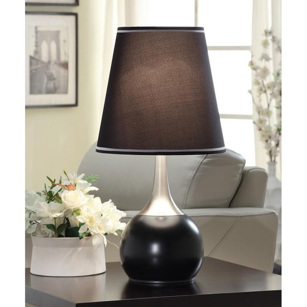 Tribecca Home Elisha Contempo Black Teardrop Touch Table Lamp