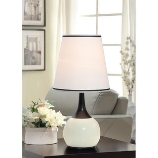 Elisha Contempo White Teardrop Touch Table Lamp