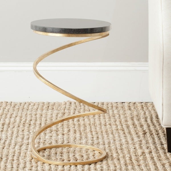 Safavieh Treasures Nevina Gold/ Black Top Accent Table