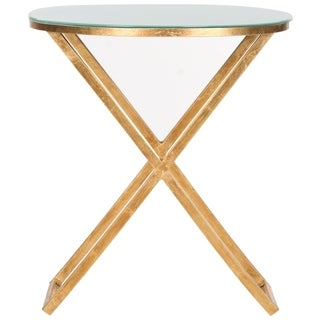 Safavieh Treasures Riona Gold/ White Top Accent Table