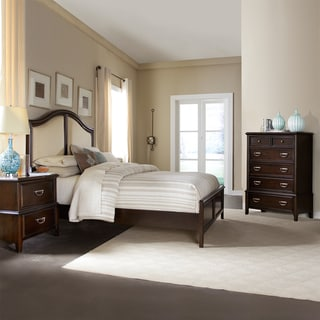 Isabel Dark Cherry Brown Transitional 3-piece Queen-size Bedroom Set