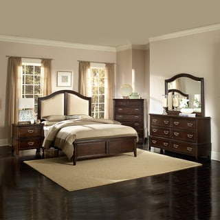 Isabel Dark Cherry Brown Transitional 5-piece Queen-size Bedroom Set