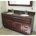 Baltic Brown Granite Double Bowl Vanity Top