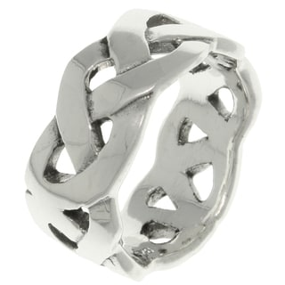 CGC Sterling Silver Celtic Weave Knot Band Ring