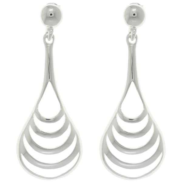 CGC Sterling Silver Polished Curve Drop Earrings