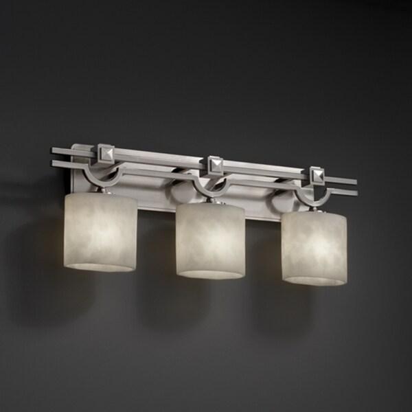 lighting silvertone rizu collection 2 light polished chrome bath light