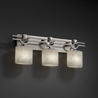 3-light Oval 'Clouds' Resin Brushed Nickel Bath Bar Fixture