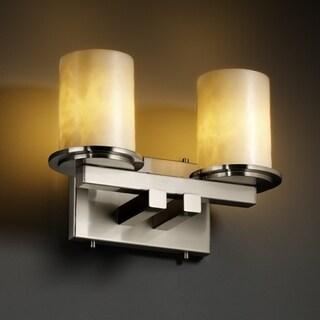 Justice Design Group 2-light Flat Rim Cylinder 'Clouds' Resin Bath Bar Fixture