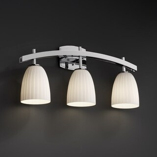Justice Design Group 3-light Short Tapered Cylinder Ribbon Bath Bar Fixture