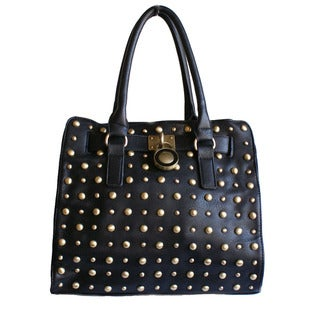 Republic Black Studded Tote Handbag