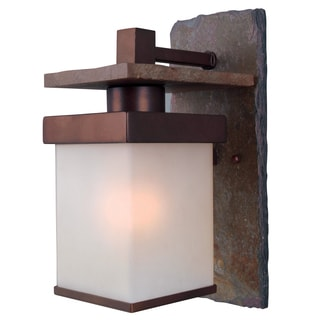 Castellina Natural Slate/ Copper 1-light Medium Wall Lantern