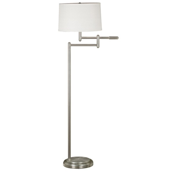 Aldrin Brushed Steel Swing Arm Floor Lamp