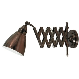 Ambrose Copper Bronze Swing Arm Lamp