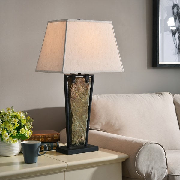 Calvert Natural Slate Table Lamp