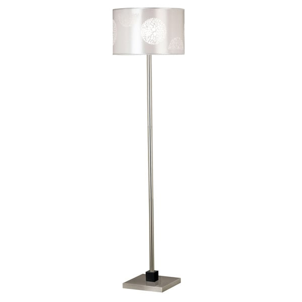 Hyde Lace Accented Drum Shade Floor Lamp