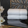 Authentic Plush Herringbone Weave Hotel and Spa Turkish Cotton White Bath T