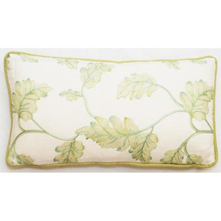 Embroidered Leaves 17 x 11-inch Throw Pillows