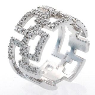 Victoria Kay 14k White Gold 5/8ct TDW Diamond Geometric Ring (I-J, I1-I2)