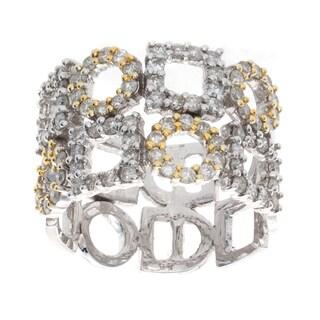 Victoria Kay 14k Two-tone Gold 1 1/10ct TDW Diamond Geometric Ring (I-J, I1-I2)