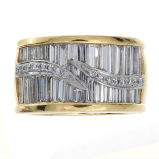 14k Gold and Platinum 1 7/8ct TDW Baguette Diamond Ring (I-J, I1-I2)