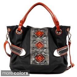 Nicole Lee 'Lizeth' Geometric Slouch Bag