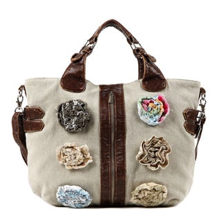 Nikky by Nicole Lee 'Luna' Flower Canvas Tote