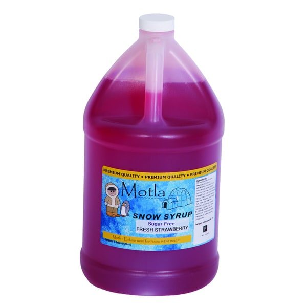 Motla 1-gallon Sugar-free Fresh Strawberry Snow Cone Syrup
