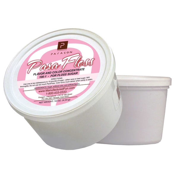Paragon Pink Vanilla ParaFloss Cotton Candy Floss (16-ounce Tub)
