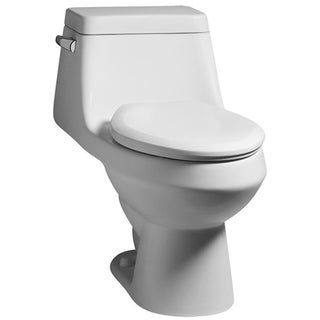 Fairfield 1-piece 1.6 GPF Elongated White Toilet with Seat