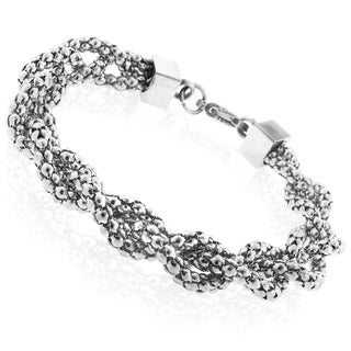 Moise Stainless Steel Braided Coreana Bracelet