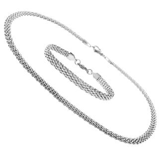 Moise Stainless Steel Mesh Link Jewelry Set