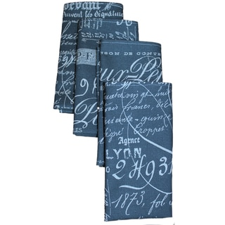 Document Navy Napkins (Set of 4)