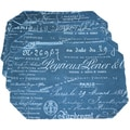 Document Navy Placemats (Set of 4)