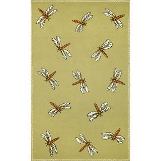 Summer Dragonfly Outdoor Rug (3'5 x 6'5)